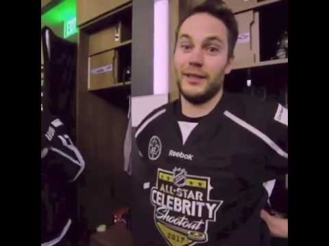 Taylor Kitsch on NHL Celebrity Shootout