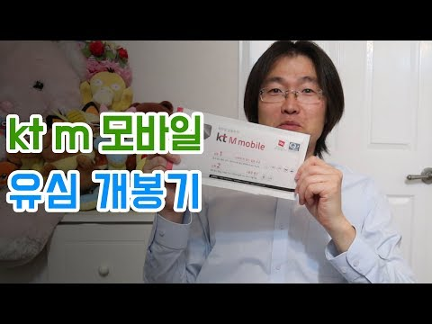 KT M 모바일 유심 개봉기 & 유심 개통 방법 : kt M mobile USIM