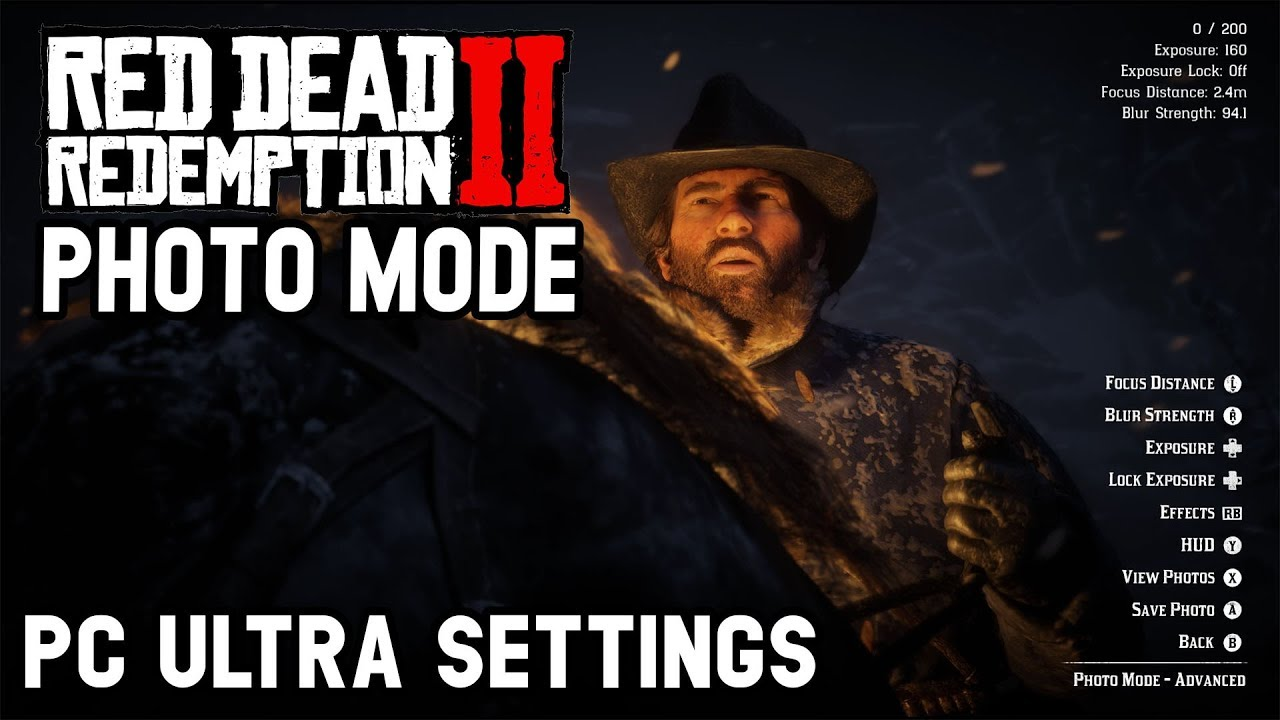 Red Dead Redemption 2 PC  - First look at the Photo Mode (ultra settings)