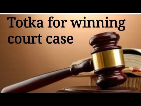 Totka for winning court case