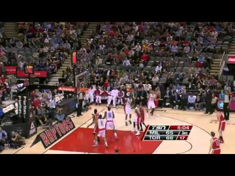 Milwaukee Bucks vs Toronto Raptors 1/13/13