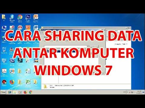 Menayangkan langkah-langkah Sharing Folder di Windows XP dan di Windows 7..