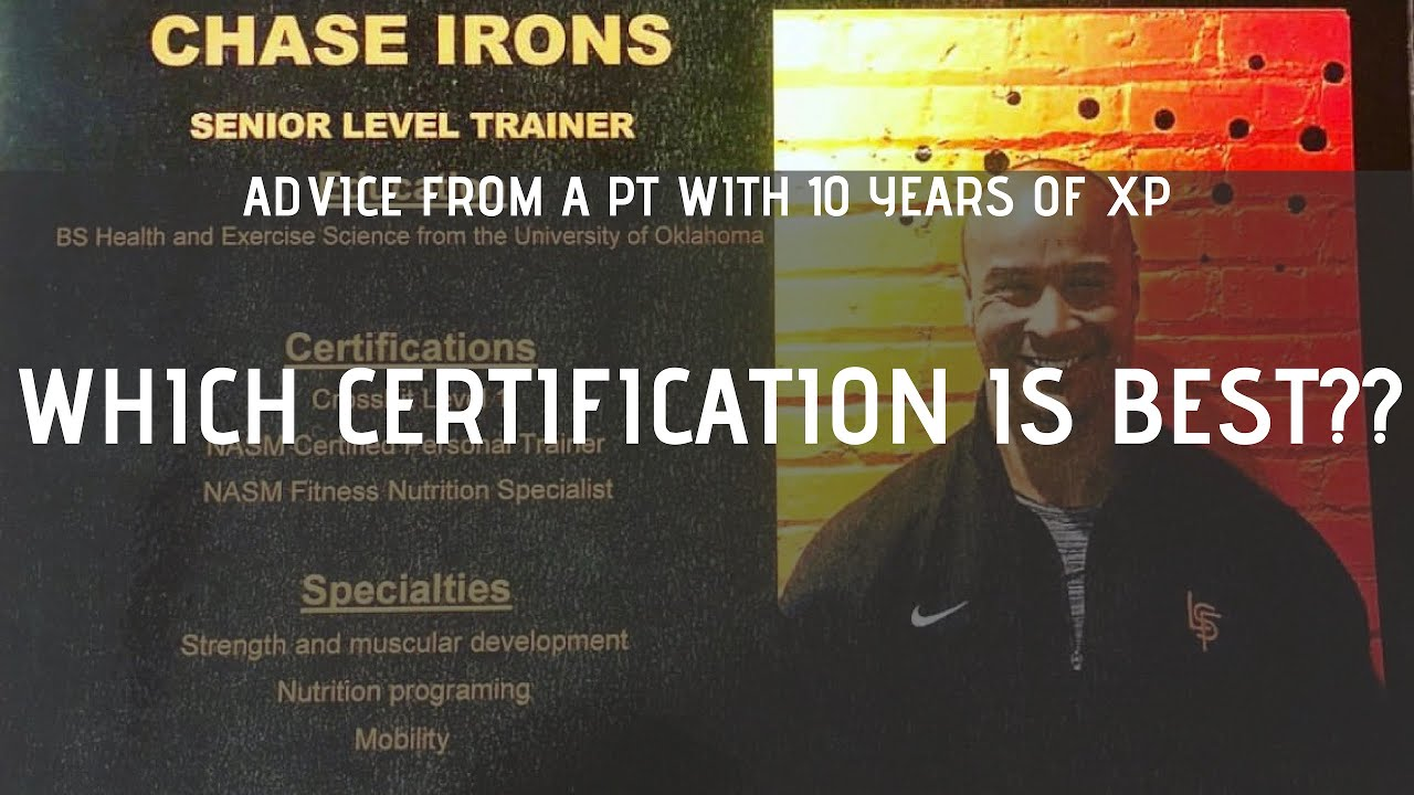 Advice From A Pt With 10 Years Of Xp Which Cert Is Best Youtube