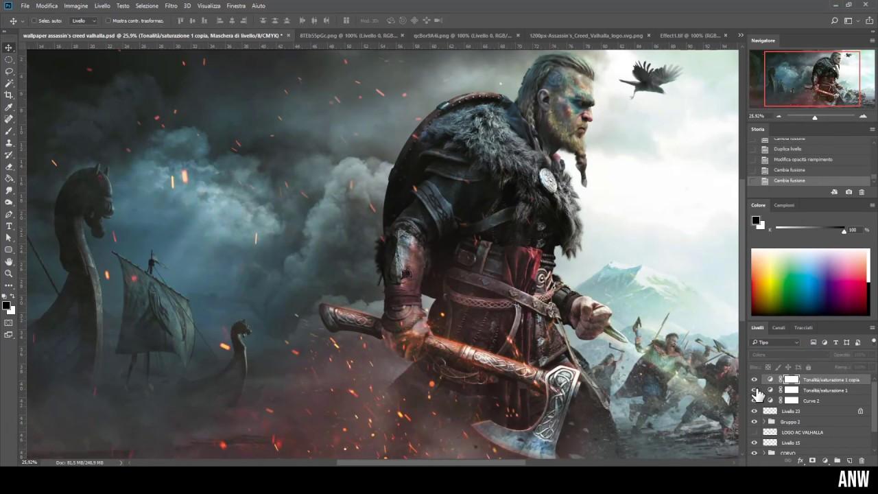 Assassin S Creed Valhalla Speed Painting Wallpaper Eyvor Soft