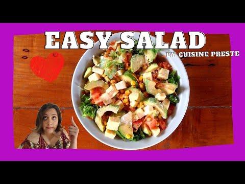 ❤️😋🥗recette-salade-facile-et-rapide-avec-vinaigrette-yaourt❤️😋🥗