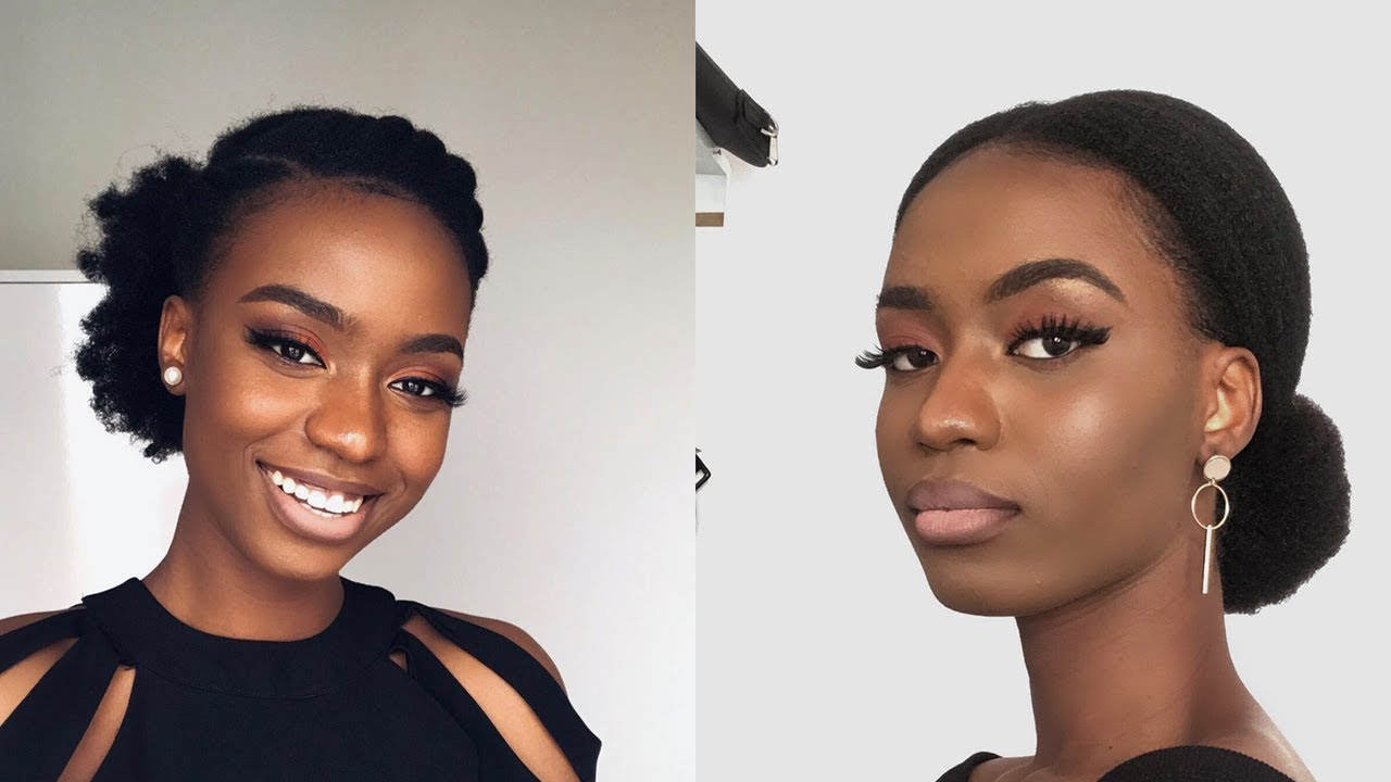 11 Simple Easy Natural Hairstyles On Natural Hair 2019 Youtube