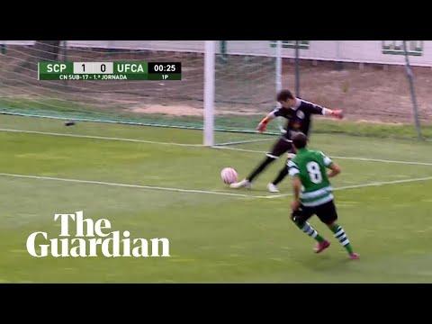 Sportings U17 erzielt Tor - ohne den Ball zu berühren: Don't touch me