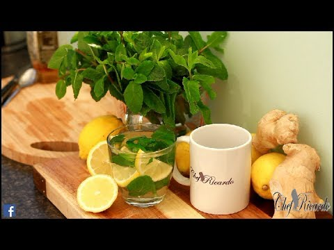 How To Make Fresh Mint Tea /Wonderfully Hot Drink (Peppermint Tea) | Recipes By Chef Ricardo