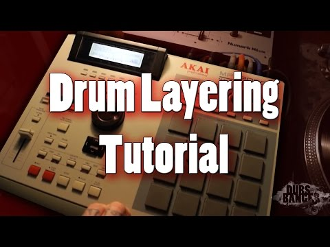 Hip Hop Drums Tutorial How To Layer Chop Thick Full Drums MPC