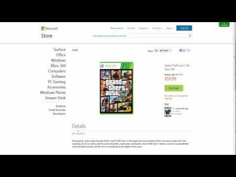 GTA V Pre-Order Bonus! Free 1600 Microsoft Points!