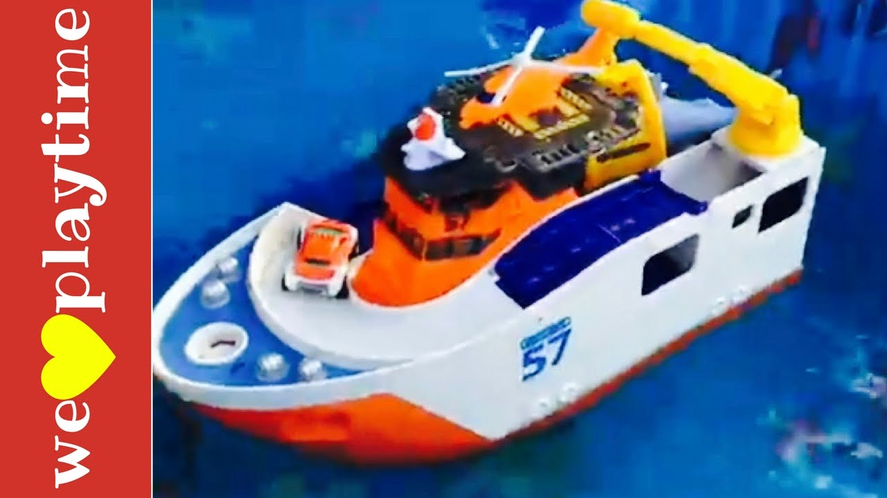 Shark Ship Toy : Toy boats beats musical video rescue