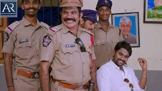 Saradhi Telugu Movie Scenes | Gabbar Singh Act Comedy in Police Station | AR Entertainments