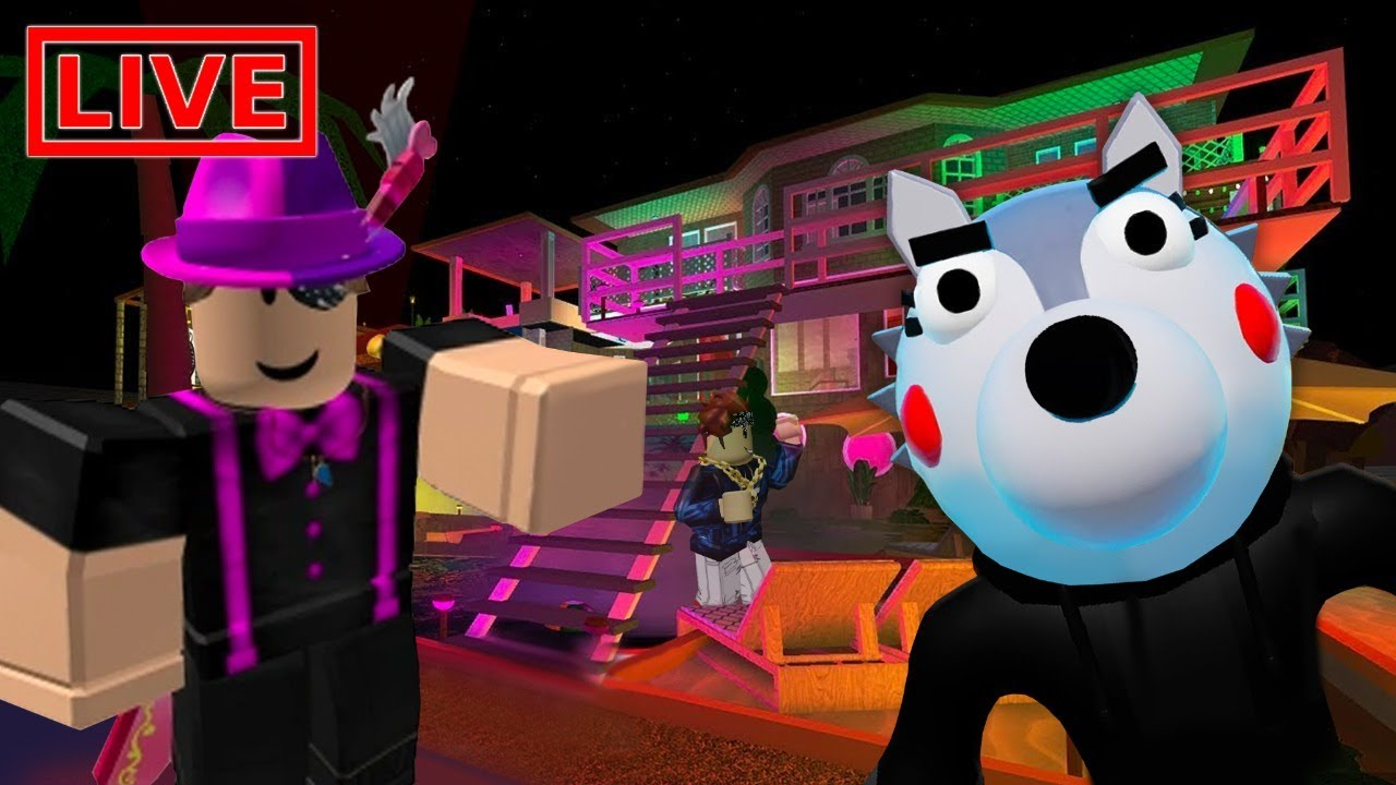 PLAYING THE SCARIEST GAMES ON ROBLOX LIVE- PIGGY CH 2