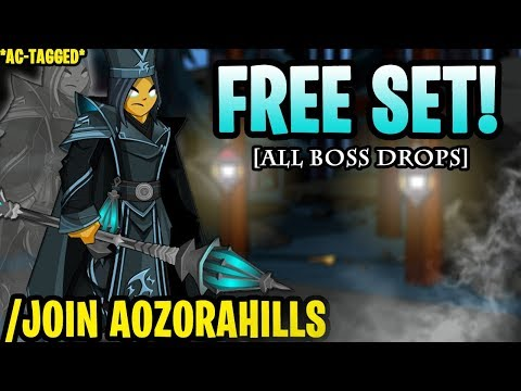 AQW - /JOIN AOZORAHILLS (ALL Ghostly Hasu Boss Drops!) (AC-TAGGED) + ITEM Showcase!