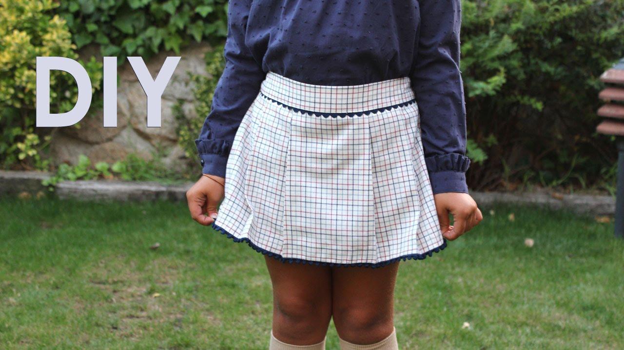 f64e21437225d Como hacer una falda pantalón de niña. Hazlo tu misma. - YouTube