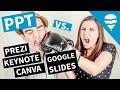Best Slide Software for Academics 2020 | Comparing Prezi PPT Canva Keynote & Google Slides