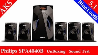 Philips SPA4040B 5.1 UnBoxing Sound Test by AKS