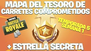 SEMAINE 1 CHALLENGES: TREASURE MAP - SECRET STAR - Fortnite: Bataille Royale