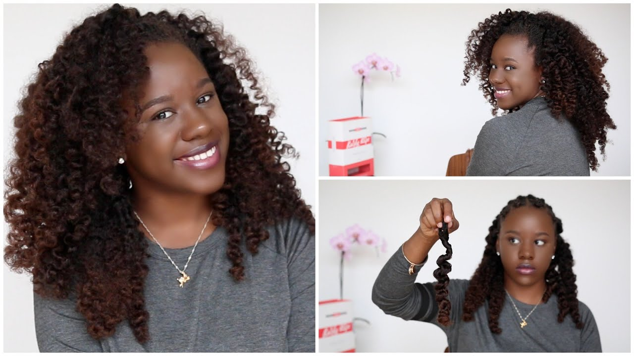 Bantu Knot Out On Clip In Hair From Kurly Klips Youtube