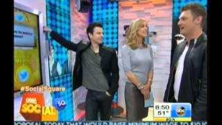 Nick Carter & Jordan Knight en GMA - 30 Abril 2014