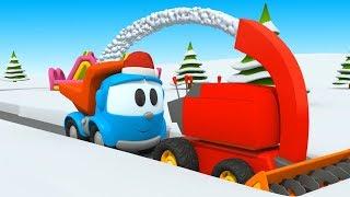 Cartoni animati per bambini - Leo ed i veicoli per la neve