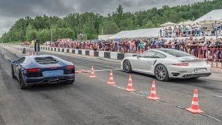 Porsche 911 Turbo Vs Lamborghini Aventador Vs Mercedes C63 Amg
