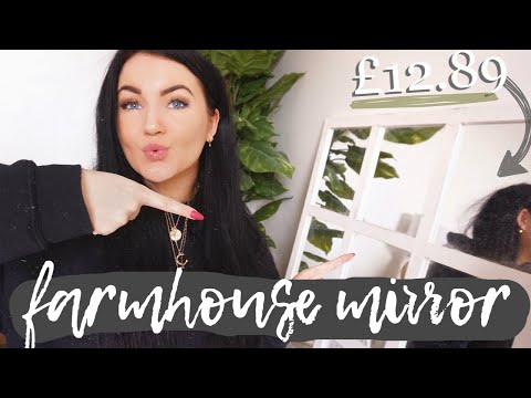 *HUGE* POUNDLAND MIRROR DIY - *FROM SCRATCH*