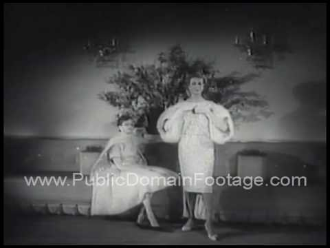 Fall Fashion News 1958 archival stock footage