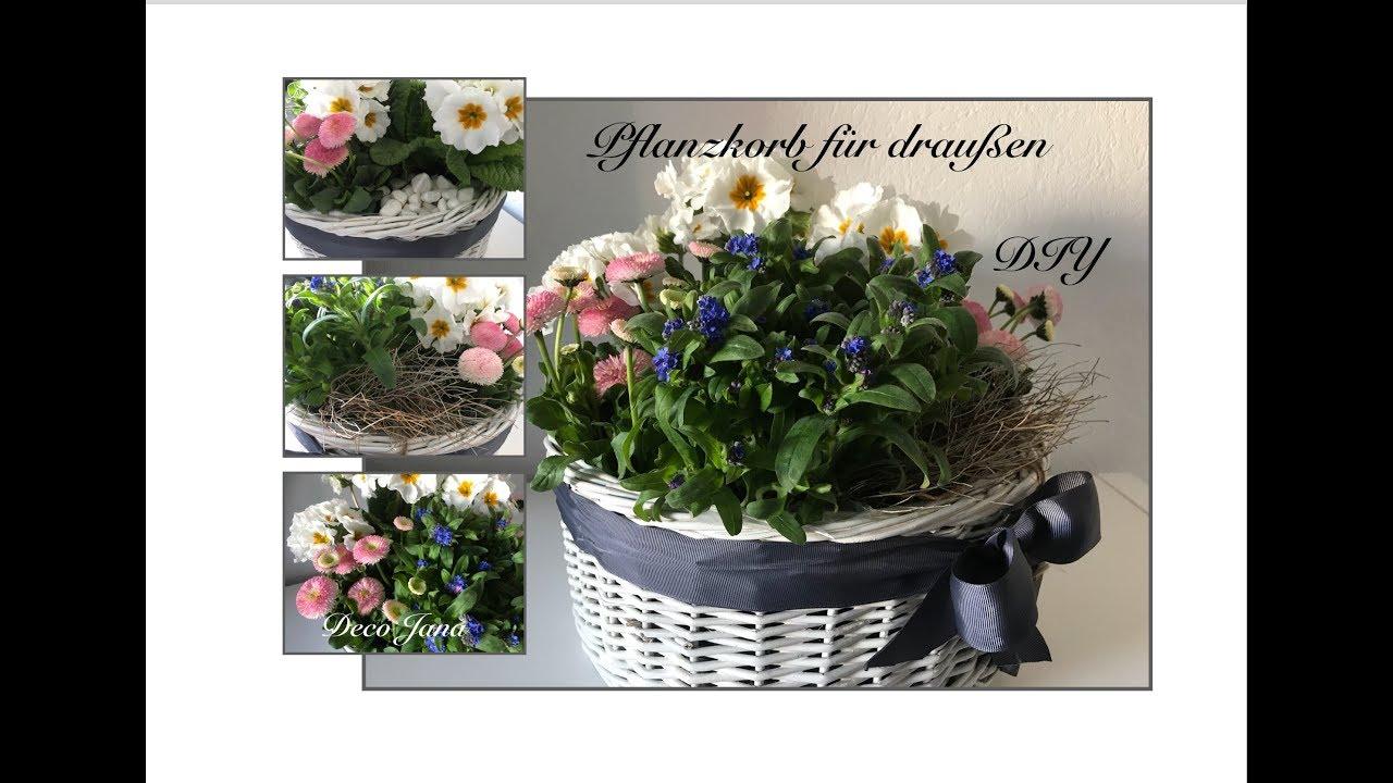 Diy Upcycling Blumendeko Fur Balkon Oder Terrasse Brotkorb