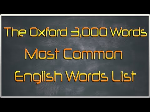 The Oxford 3000 Words List - Most Common English Words List
