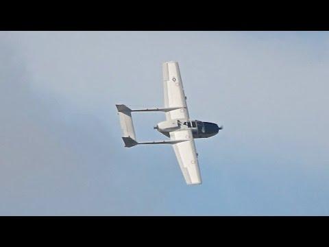 Cessna O-2 Skymaster flying display at Sanicole Airshow 2015