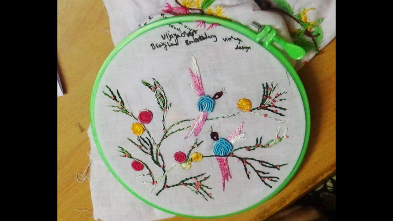 Hand Embroidery Designs 126 Brazilian Birds Embroidery Designs
