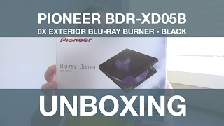 Blu Ray Burner Unboxing - Pioneer Slim External Blu Ray Writer BDR-XD05B (Black)