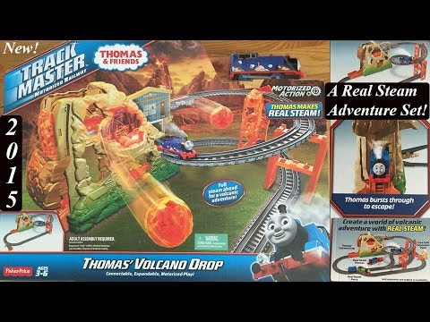 Thomas and Friends Toy Train Set-Trackmaster Real Steam Thomas' Volcano Drop!