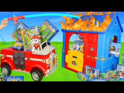 Pat'Patrouille Jouets: camion de pompiers, Véhicules jouets, Pompier Et Surprise Jouet pour enfants