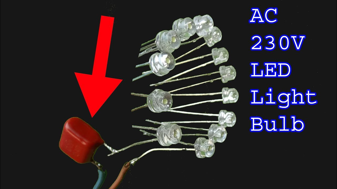 How to make Led light bulb,230V AC led light diy bulb ...