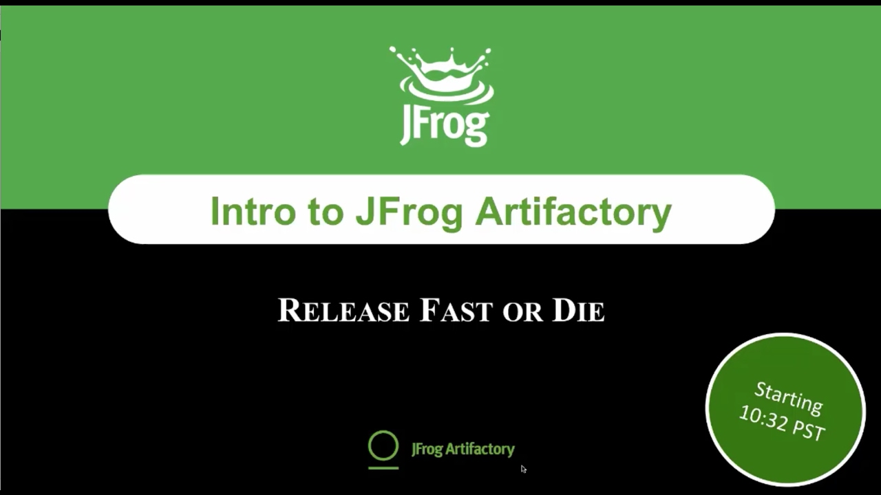 [Webinar] Introduction to JFrog Artifactory