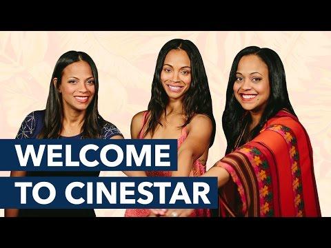 Zoe Saldana, Mariel Saldana and Cisely Saldana. Welcome to Cinestar!