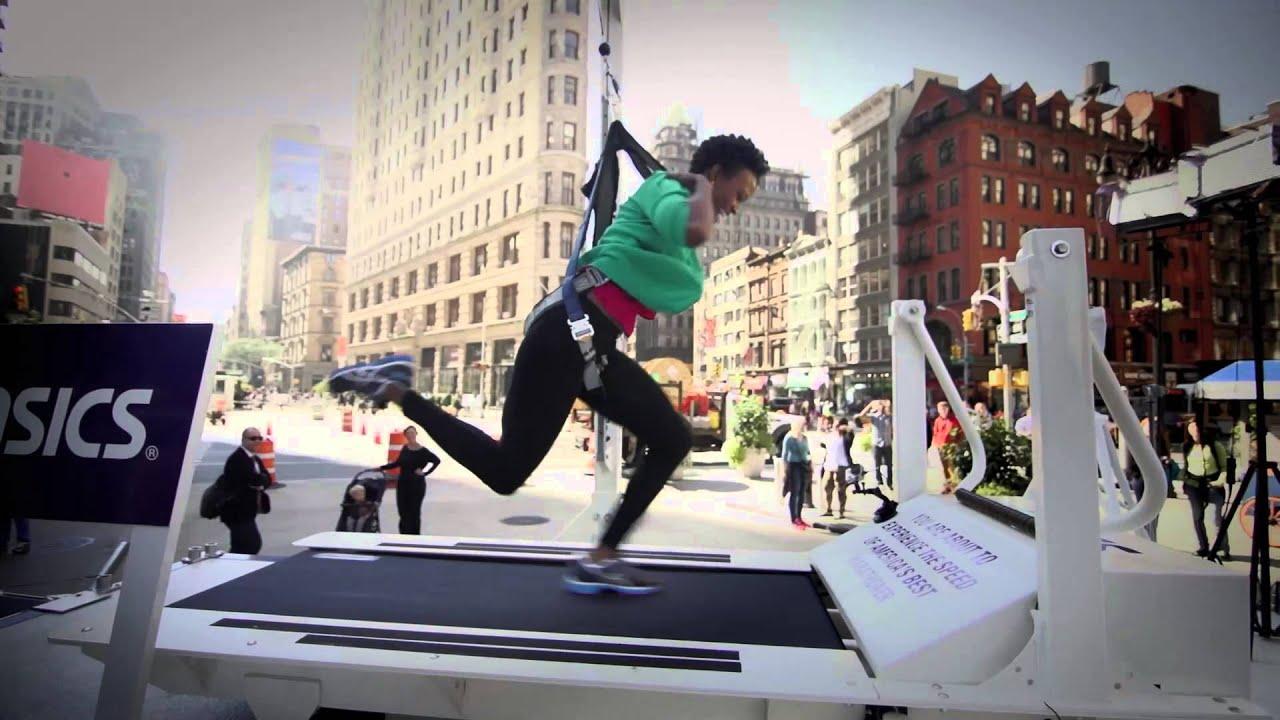 asics treadmill challenge youtube