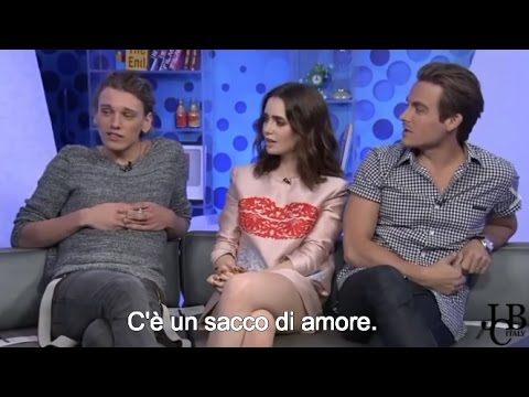 [SUB ITA] Who gives the best hug? || Jamie Campbell Bower + Kevin Zegers + Lily Collins
