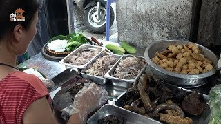 Vietnamese Fermented Shrimp Paste Noodle Bun Dau Mam Tom