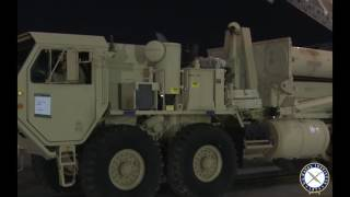 U.S. Army THAAD Ballistic Missile Defense System Arrives in South Korea
