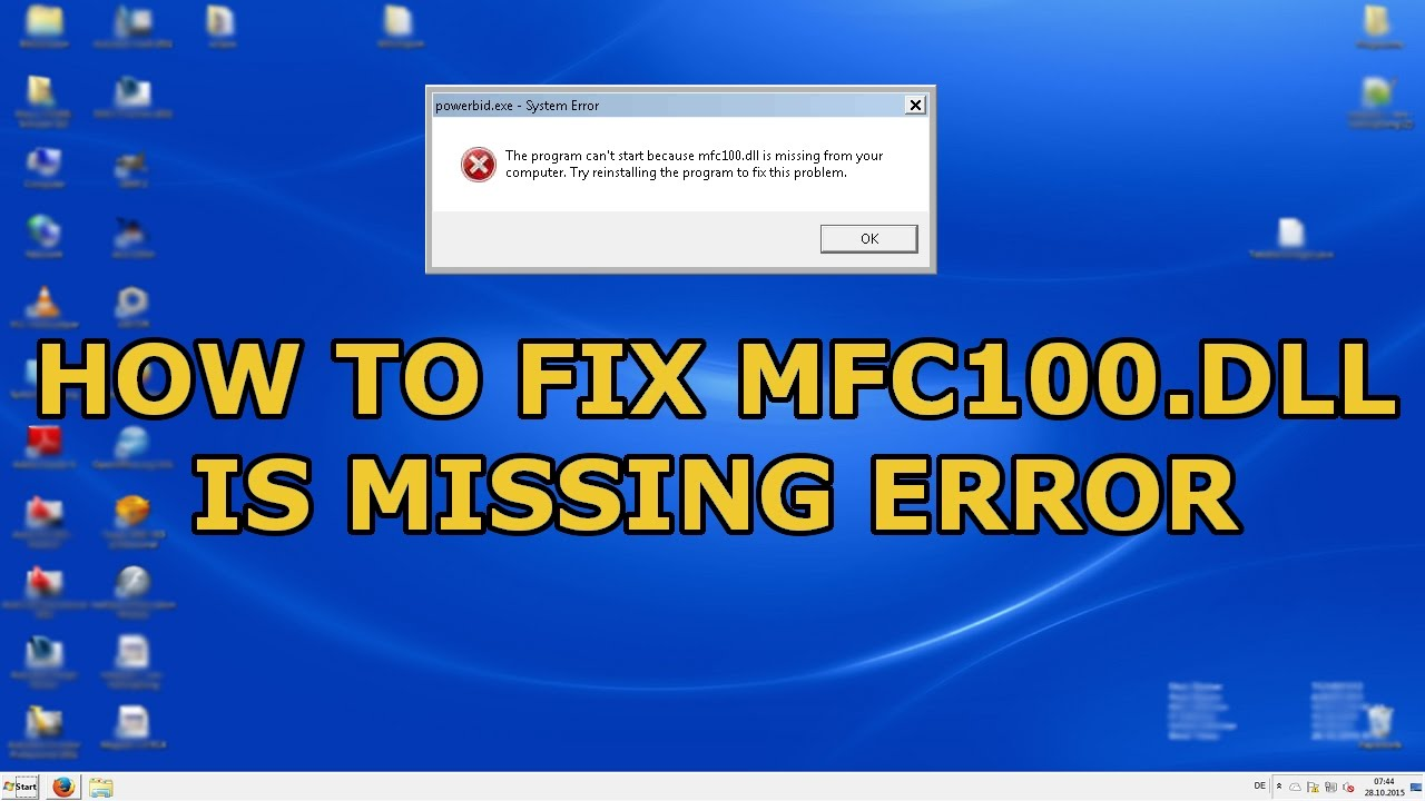 How To Fix mfc100.dll Is Missing From Your Computer (Easy Solution