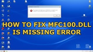 How To Fix mfc100.dll Is Missing From Your Computer (Easy Solution)