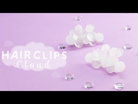 DIY UV-RESIN: HAIR CLIPS with cloud shape*もくもく雲の個性派ヘアクリップ*