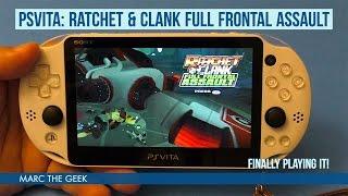 PSVita Ratchet & Clank: Full Frontal Assault Gameplay