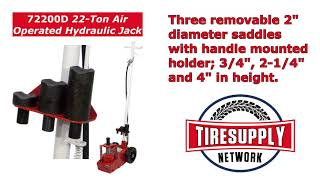 Tire Supply Network | Norco Floor Jack, 22 Ton Air Operated Hydraulic (72200D)