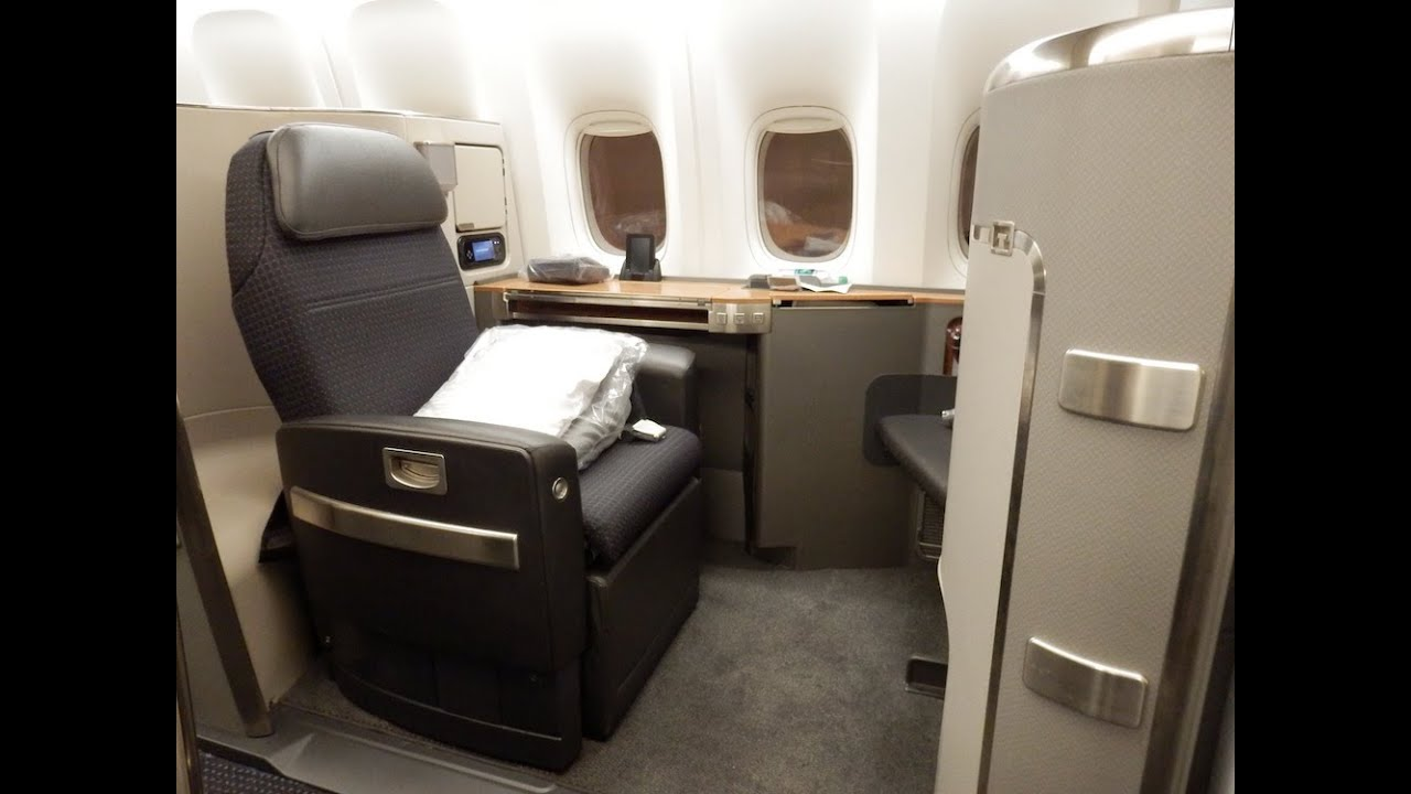 American Airlines B777300ER First Class New York to
