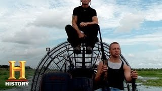 swamp people rj and jay paul test the smart stick s6 e6   history