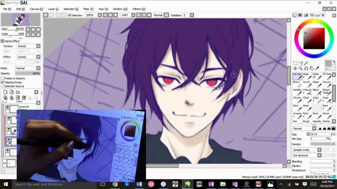 Digital Drawing Shiki From The Anime Dance With Devils Fanart